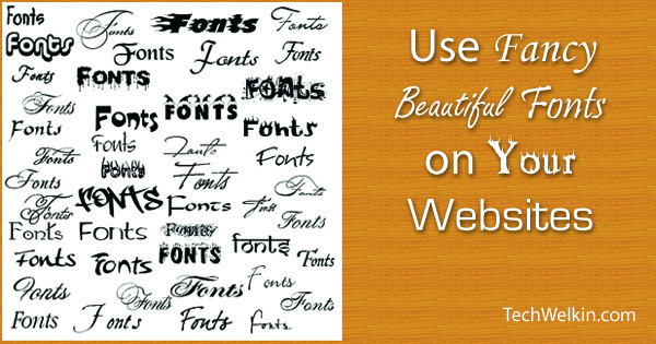 It is easy to use non-conventional fonts on websites.