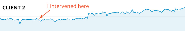 Monthly web traffic of another client grew by more than 100% after my consultancy.