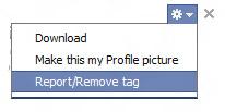 Facebook Remove Tag Option