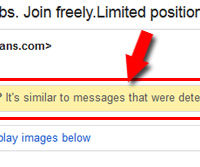 Gmail tells you the reason behind marking a message as spam.