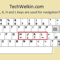 J, K, H and L keys are also used for navigation.