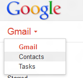 Change view from Gmail to Google Contacts