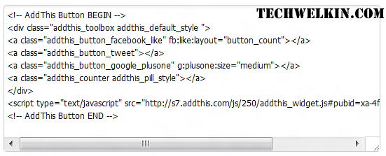 AddThis will give you code like this