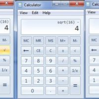 Windows calculator bug (shown with number 4)