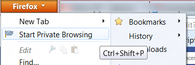 Image of Private browsing in Mozilla Firefox