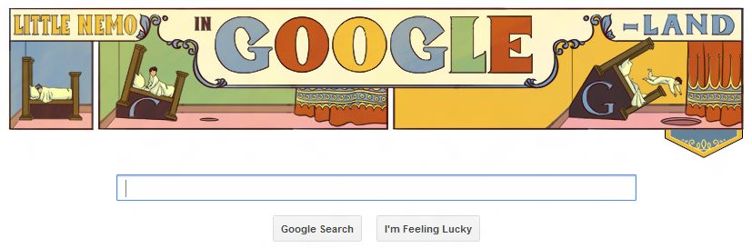 Image of Google Doodle on 15 October 2012