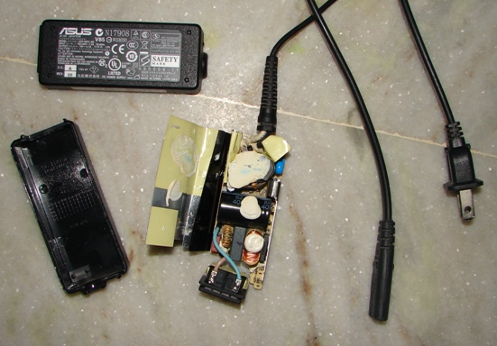 Opened charger (AC adapter) of my laptop.