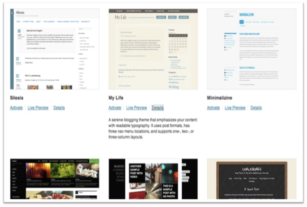 Free themes available for WordPress