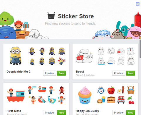 Facebook Sticker Store