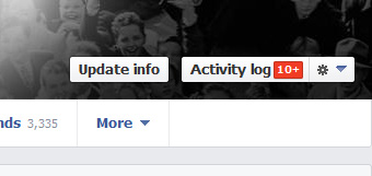 Facebook Timeline Activity Log Button