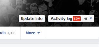 Facebook Timeline Activity Log Button