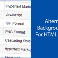 Alternating Background Color For HTML List Items