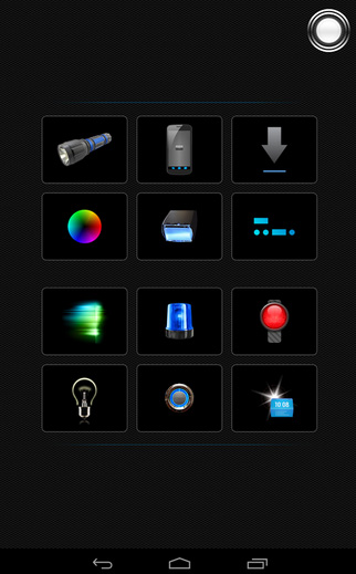 Tiny Flashlight + LED is the best Torch light Android app out there.