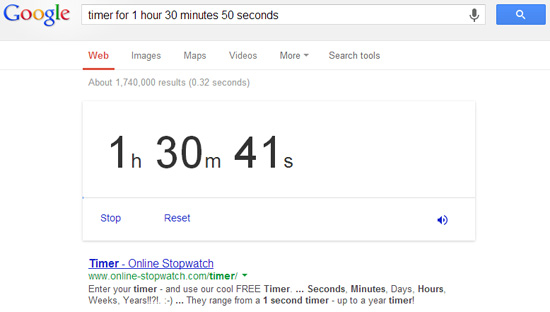 Google Timer Countdown Clock