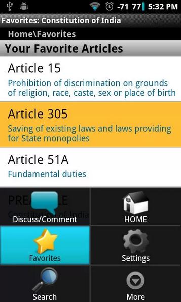 Indian constitution android app