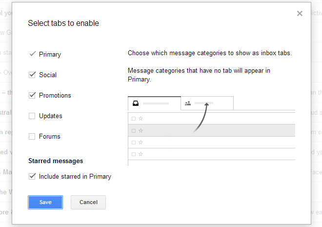 You can reconfigure Gmail tabs
