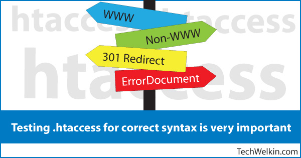 Syntax and content of .htaccess file must be perfectly correct.