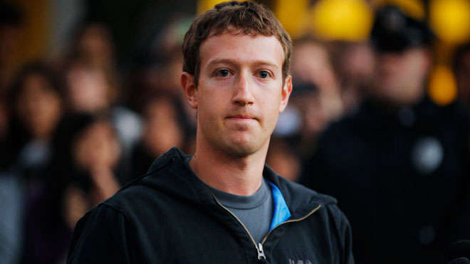Mark Zuckerberg, founder of Facebook.