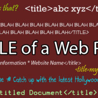 There are all sorts of Title tags out there. Do you write good ones?