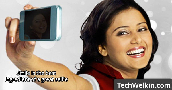 A smile does invariably adds pleasure in your selfie. Wear your smile!