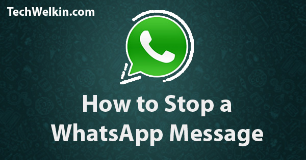 Stopping a WhatsApp message is possible but very difficult!