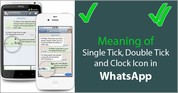WhatsApp Double Tick, Single Tick and Clock Icon Meaning