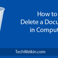Delete a document from your computer.