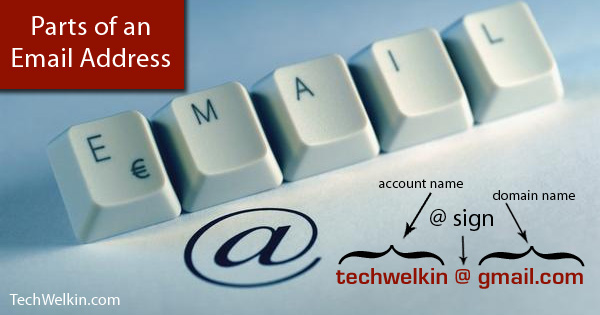Every email address has three main parts. It's useful to understand the components of an email id.