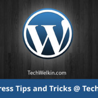 TechWelkin publishes helpful WordPress tips for you!