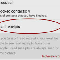 Disable Read Receipt and Stop Blue Ticks from Appearing in WhatsApp