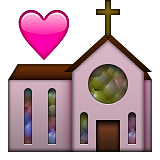 Church with a heart: WhatsApp symbol