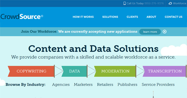 Content writing jobs at CrowdSource are available for writers.