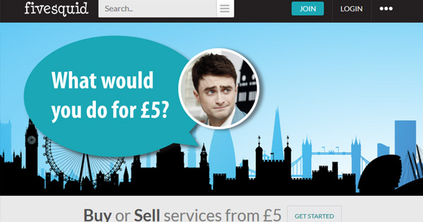A British version of Fiverr, the Fivesquids pays you in British Pounds for online jobs.