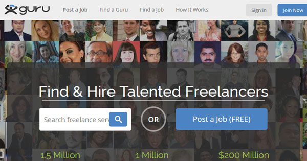Guru.com provides online micro jobs to talented freelancers.