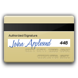 Credit Card signed by John Appleseed.