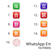 Chinese and Japanese symbols in WhatsApp.