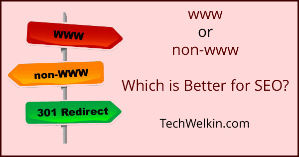 www verses non-www URLs and domain. Both are equally good for SEO.
