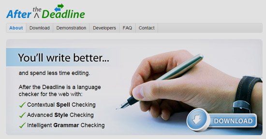 After the Deadline is an open source online proofreading facility.