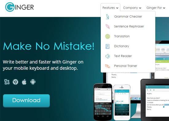 Ginger provides several online language tools including proofreading.