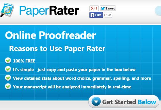 PaperRater is an online proof-reading tool for research papers and other similar documents.