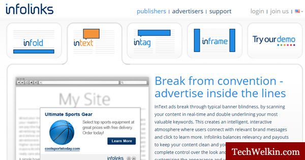 If you need an AdSense Alternative, go for unconventional ad formats from Infolinks.
