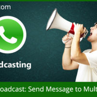 With WhatsApp, you can send message to all or multiple contacts in one go.