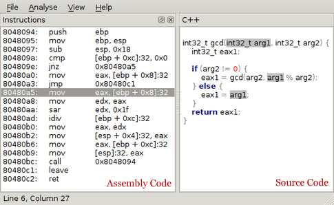 Source code and assembly code.