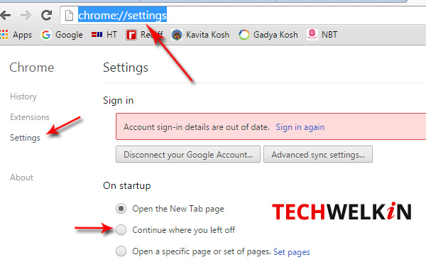 Google Chrome give you option of continuing a session where you left it off.
