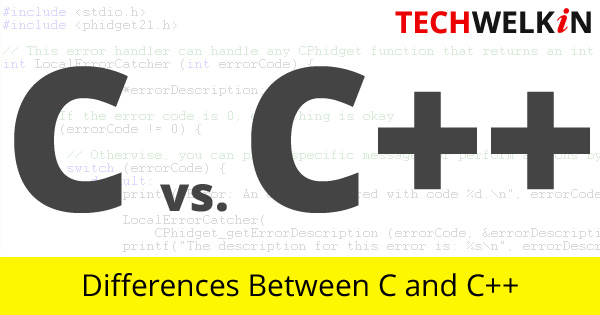 A list of differences between C and C++ programming languages.