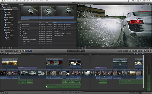 Final Cut Pro Interface.