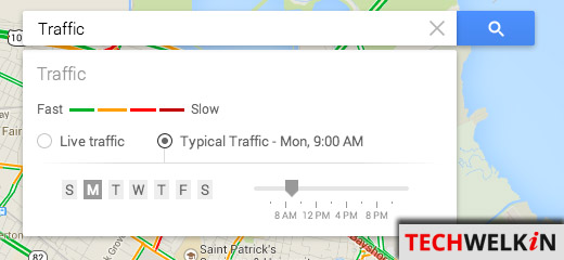 Google Maps Traffic Legend