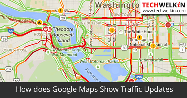 How does Google Maps Show Traffic Updates