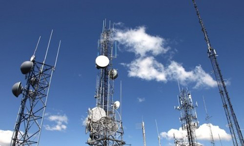 Cellular towers. Go nearer to boost mobile signal.