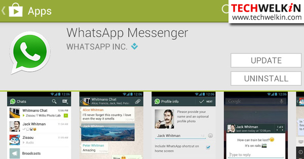 Update WhatsApp in Google Play Store.